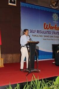 Bapak Fauzan menyampaikan sambutan selaku instruktur dari Riau Trans Company.
